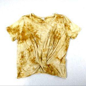 Gaze twist front tie dye t-shirt, size large